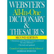 (2 Ea) Websters All In One Dictionary & Thesaurus 2nd Edition