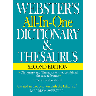Websters All In One Dictionary & Thesaurus Second Edition