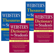(2 St) Websters Dictionary Thesaurus Set For Students - Student Spotlight