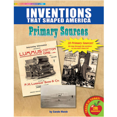 (2 Pk) Primary Sources Inventions That Shaped America
