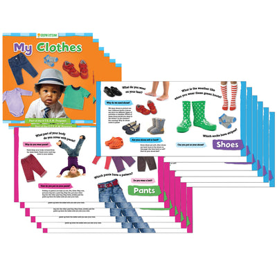 (6 Ea) Grow W- Steam Board Book My Clothes