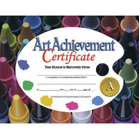 (6 Pk) Certificates Art Achievement 8.5x11 30 Per Pk - Student Spotlight