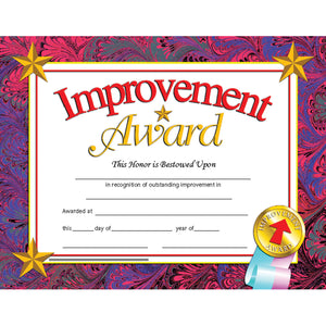 (3 Pk) Certificates Improve Award Inkjet Laser 8.5x11 30 Per Pk