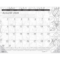 Doodle Compact Desk Pad Aug-jul Academic
