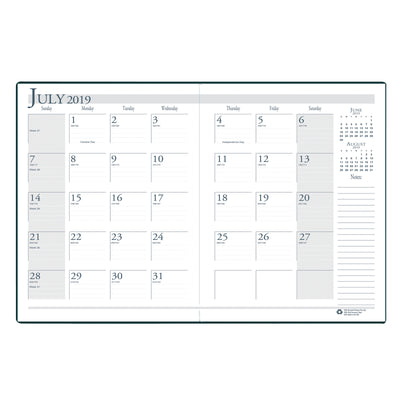 (2 Ea) Academic Monthly Planner 14 Months Jul-aug