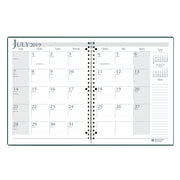 (2 Ea) Academic Monthly Planner Blk 8.5x11 Wirebound