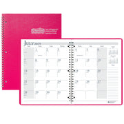 (2 Ea) Academic Monthly Planner Pnk 8.5x11 Wirebound