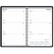 Weekly Planner Black Cover Jul-jul Fiscal Academic