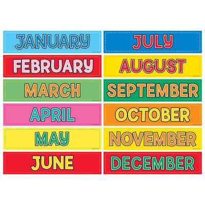 (4 Pk) Monthly Calendar Cards 12 Per Pk