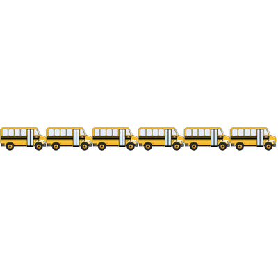 School Bus Die Cut Border