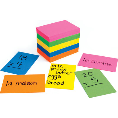 (10 Pk) Bright Flash Cards 2x3