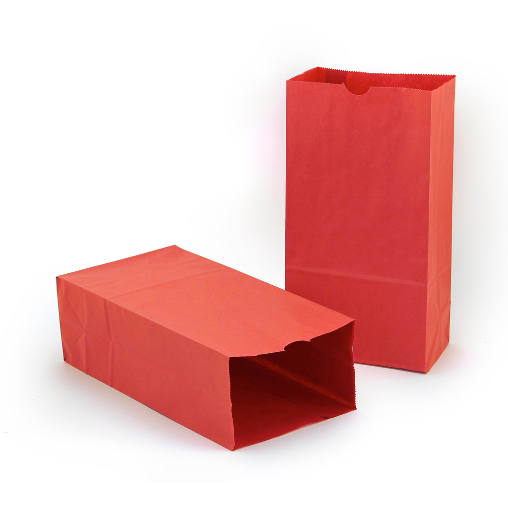 (2 Pk) Colored Craft Bags Red