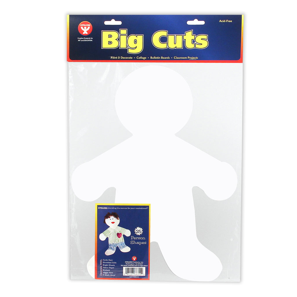 Big Cut-outs 16in Me Kid White