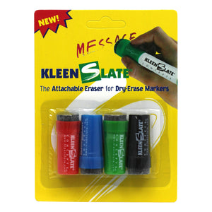 (12 Pk) Attachable Erasers For Dry 4 Per Pk Erase Markers Carded