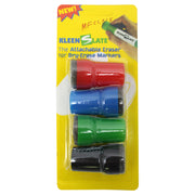 (12 Pk) Attachable Erasers For Dry 4 Per Pk For Lrg Bbl Marker Carded