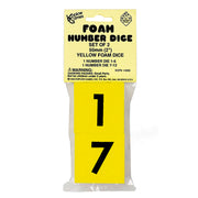 (6 St) Foam Dice 2 Numeral Set Of 2