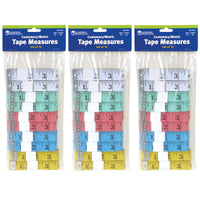 (3 Pk) English-metric Tape Measures 10 Per Pk 60in Plastic