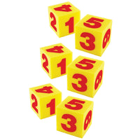 (3 EA) GIANT 5IN SOFT CUBES NUMERAL