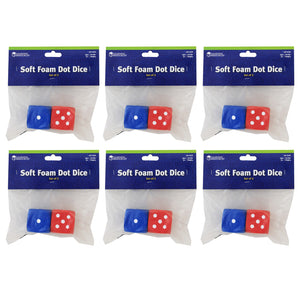(6 Pk) Foam Dice Dot - Student Spotlight