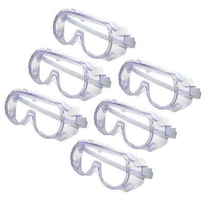 (6 Ea) Safety Goggles Meet Ansi Z871 Standards