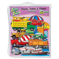 Trains Trucks & Planes Flannelboard
