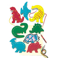 Lacing & Tracing Dinosaurs 7-pk Ages 3-7
