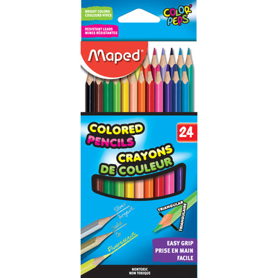 Triangular Colored Pencils 24 Colrs