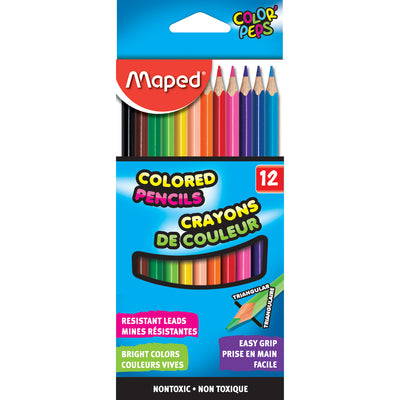 Triangular Colored Pencils 12 Colrs