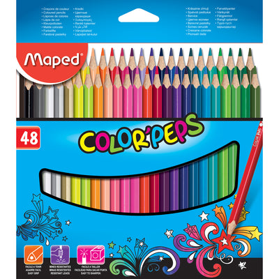 Triangular Colored Pencils 48pk Colorpeps