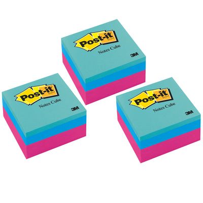 (3 Pk) Post It Notes Cube Ultra 3x3