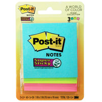 (6 Pk) Post-it 3x3 Notes 3 Pads-pk 45 Shts-pad Miami Collection