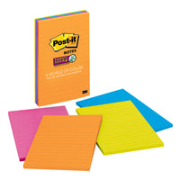 (2 Pk) Post-it Notes 4x6 Lined 4 Pads-pk Janeiro Collection