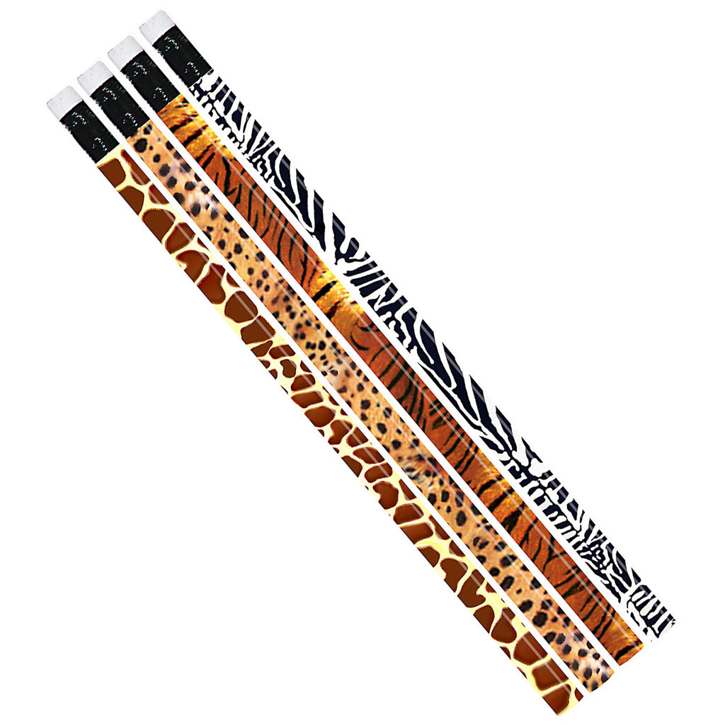 (12 Dz) Jungle Fever Asst Pencils 12 Per Pk