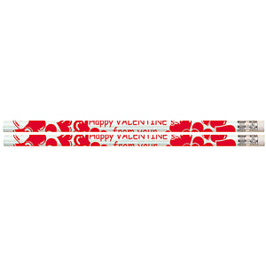 Happy Valentine From Your Teacher 12pk Motivational Fun Pencils