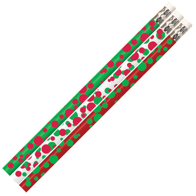 (12 Dz) Dots Of Christmas Pencils 12 Per Pk