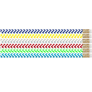 (12 Dz) Chevron Chic Pencils 12 Per Pk