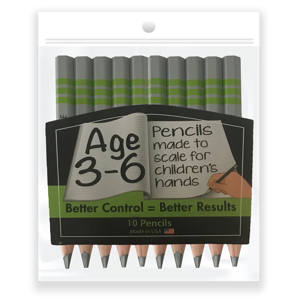 (3 Pk) Write Size 4in Pencils 10 Count Pk