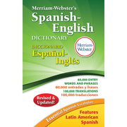 Merriam Websters Spanish English Dictionary Hardcover
