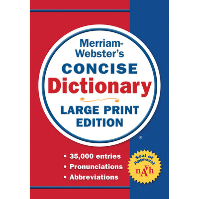 Concise Dictionary Large Print Ed Merriam Webster - Student Spotlight