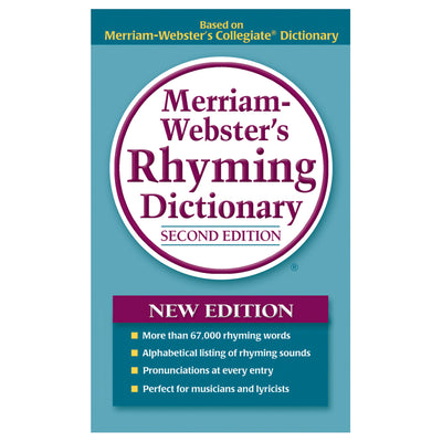 Merriam Webster Rhyming Dictionary Paperback