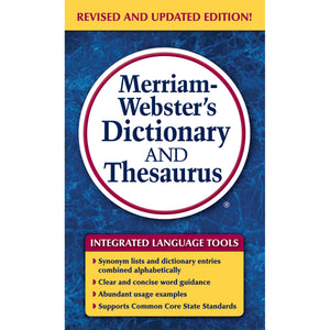 (3 Ea) Merriam Websters Dictionary & Thesaurus Paperback