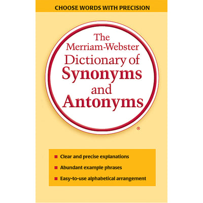 (3 Ea) Merriam Websters Dictionary Of Synonyms & Antonyms Paperback