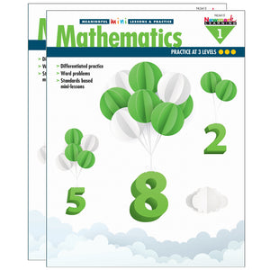 (2 Ea) Mini Lessons & Practice Math Gr 1 Meaningful