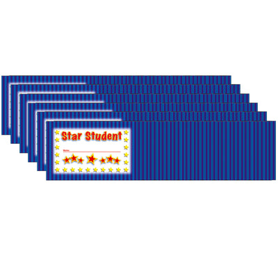 (6 Pk) Incentive Punch Cards Star Student 36 Per Pk