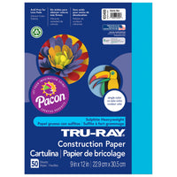 Tru Ray Atomic Blue 9x12 Fade Resistant Construction Paper