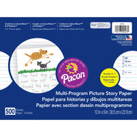 (2 Rm) Picture Story Paper 5-8in Rule 500 Sht Pr Pk 12x9