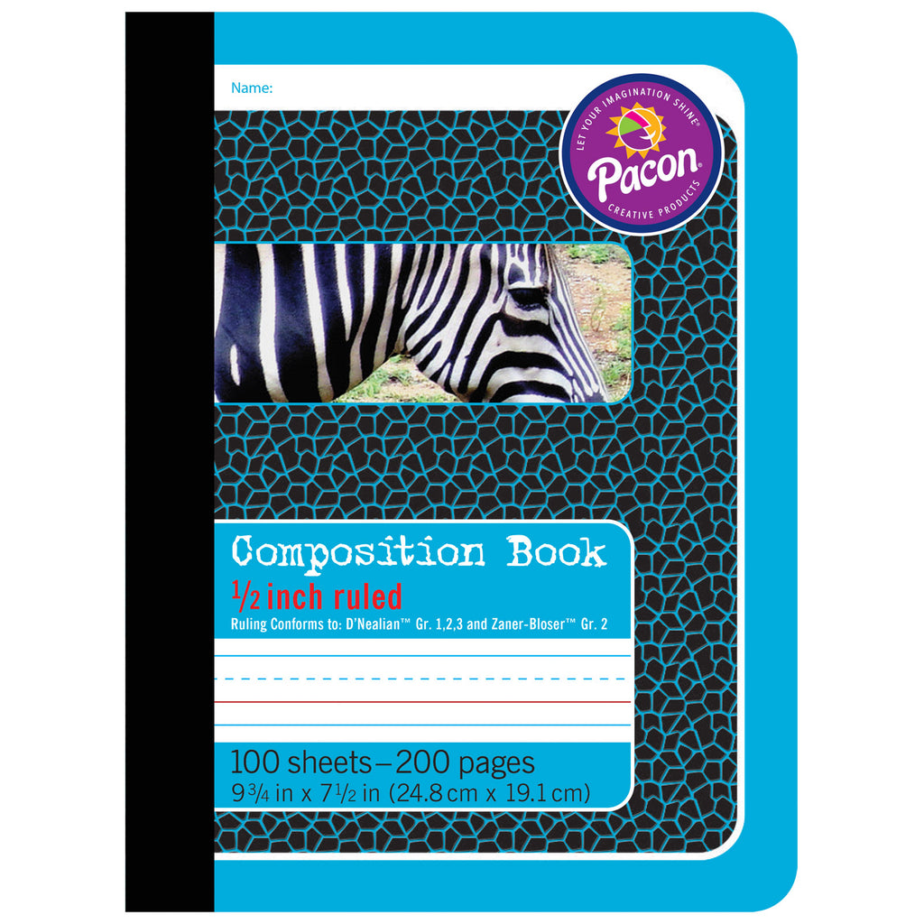 (6 Ea) Composition Book 1-2in Ruled