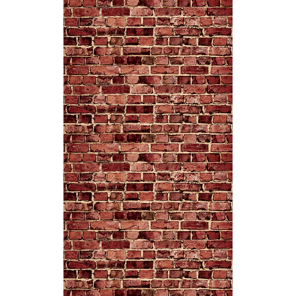 Photog Backdrop Aged Red Brick 4ct 48in X 12ft
