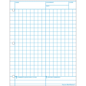 (12 PK) MATHNOTES WHITE 8.5X11IN