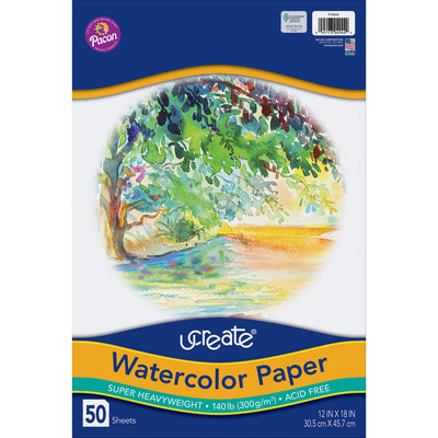 Watercolor Paper White 50 Sheets